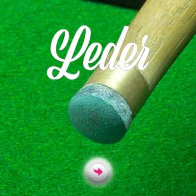 Billard Cueue Leder