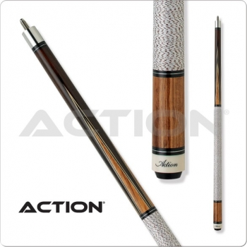 Pool Queue 2-tlg. Chocolate Zebrawood Points Pro Klebleder 13 mm, L:145 cm