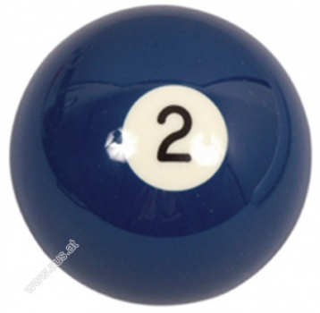 Pool-Ball Nr. 2 - 57,2 mm Aramith Premier